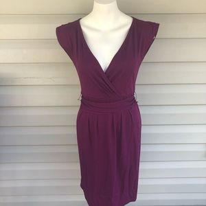 ANN TAYLOR LOFT NWT PURPLE COTTON DRESS SIZE SMALL
